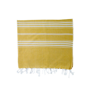 Medium hammam towel stripe mustard