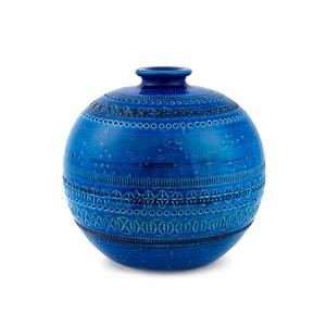 Medium bitossi rimini blu sphere vase