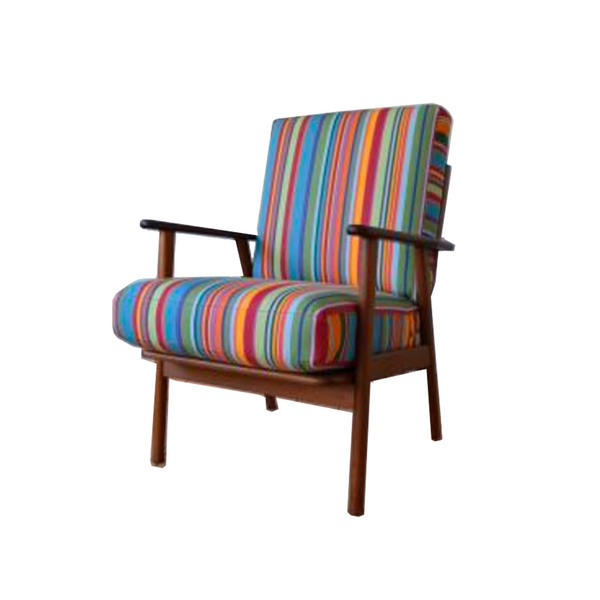 Vintage Danish Teak Oak Easy Chair 1960s Semaine