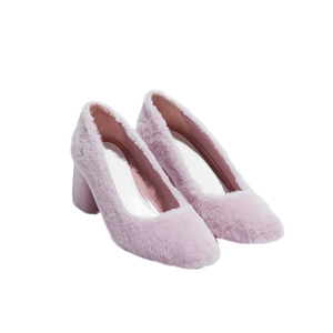 Medium amelie bb pink shearling