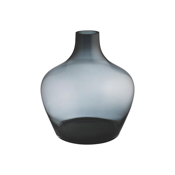 Habitat Cesar Grey Round Glass Vase Semaine
