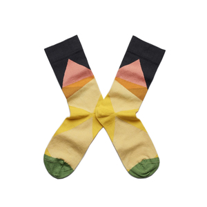 Medium bonne maison socks multicolour geometric1