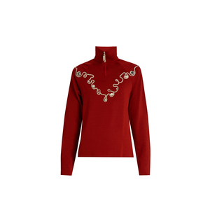 Medium wales bonner karim embellished wool blend top
