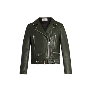 Medium acne mock leather biker jacket