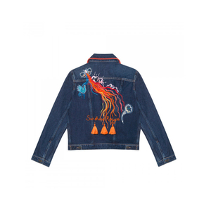 Medium m.i.h stockholm denim jacket customised by amanda norgaard