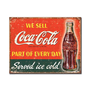 Medium ebay coca cola sign large coke metal vintage style advertising tin wall plaque d 1820