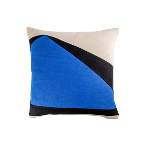 Medium the conran shop abstract shard cushion cover cobalt