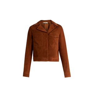 Medium vince notch lapel suede jacket