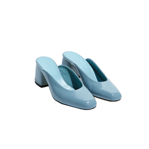 Medium bb mule patent blue