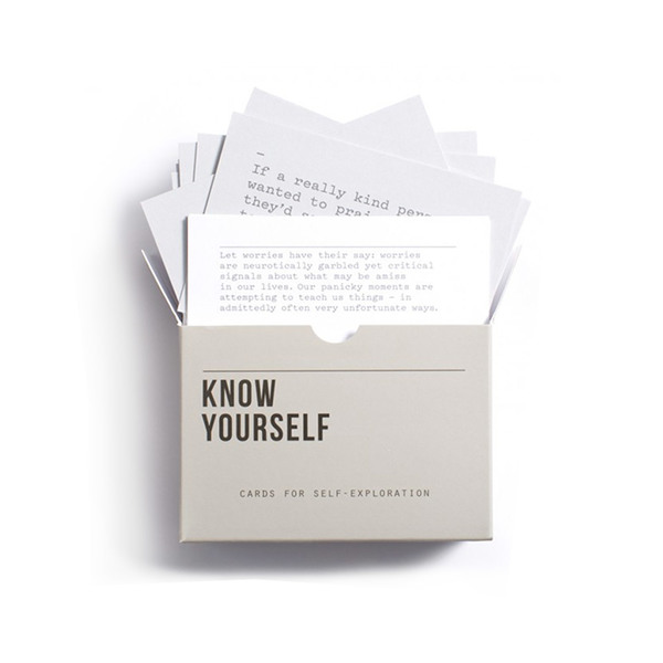 Large trouva school of life  know yourself  prompt cards