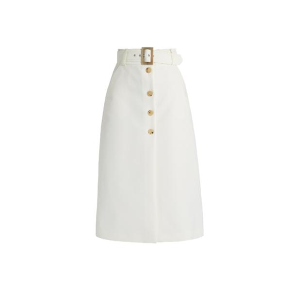 Large matches bella freud fonda button thorugh cotton skirt