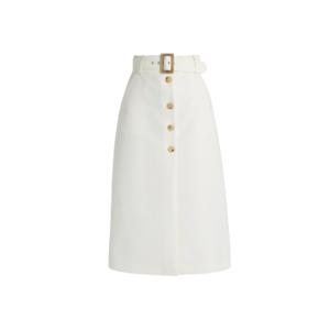 Medium matches bella freud fonda button thorugh cotton skirt