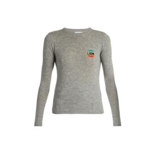 Medium matches bella freud lion cashmere blend sweater
