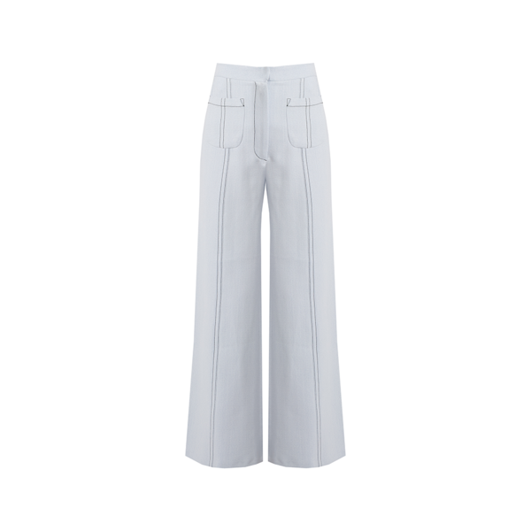 Large matches emilia wickstead sally wide leg cropped crepe trousers