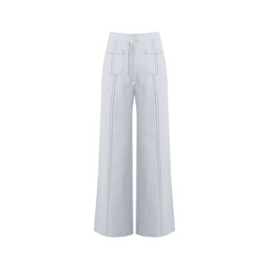 Medium matches emilia wickstead sally wide leg cropped crepe trousers