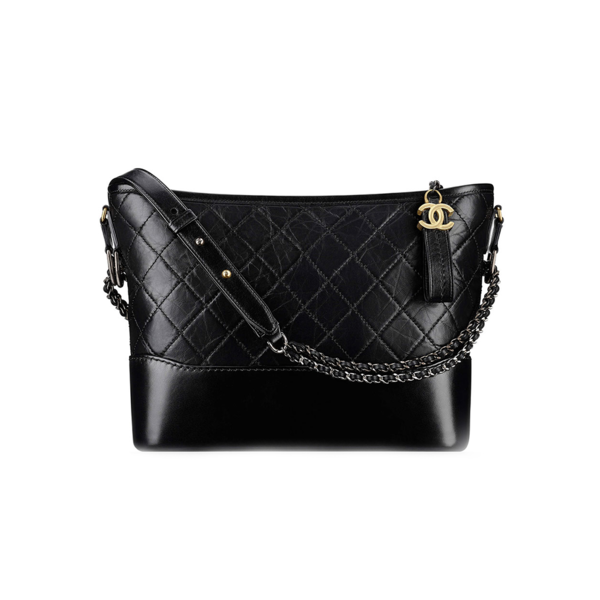 Large chanel hobo black