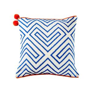 Medium the conran shop columbian geometric cushion cover square blue