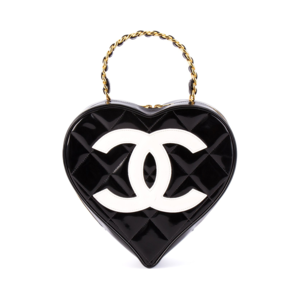 Medium chanel vintage quilted heart purse