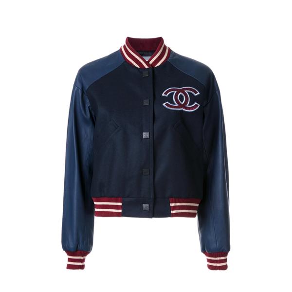 Large chanel vintage stadium jacket