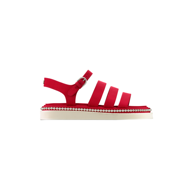 Large chanel red sandals