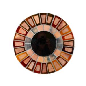 Medium round mirror by roger capron  1960s