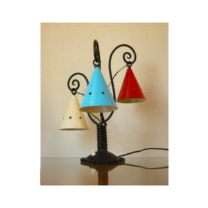 Medium pamono mid century cast iron table lamp  1940s