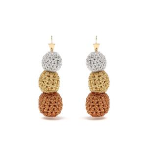 Medium lucy folk rock steady crochet earrings
