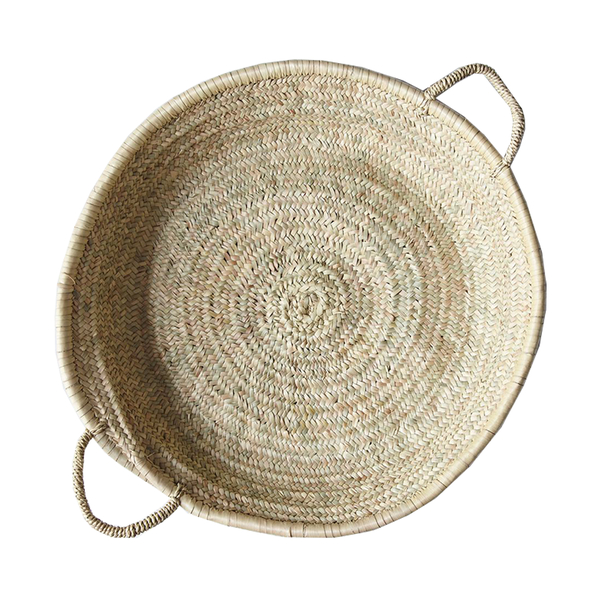 Large food 52 handmade shallow moroccan basket