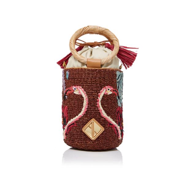 Large aranaz cecilia mini bucket bag