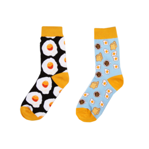 Medium eggy breakfast ankle socks
