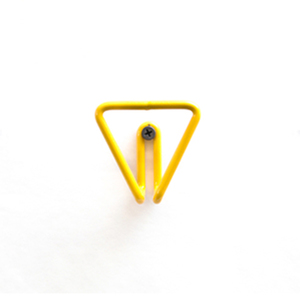 Medium amsterdam modern geometric triangle wire wall hook in colors
