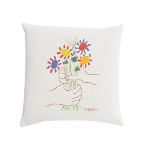 Medium libertys fleurs et mains 1958 picasso tapestry cushion