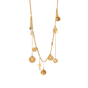 Medium chloe coins necklace