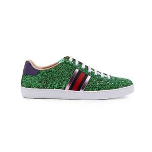 Medium gucci ace glitter shoes