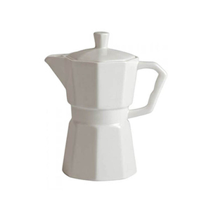 Medium white porcelain coffee pot