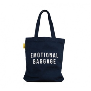 Medium school of life emotional baggage tote bag