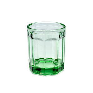 Medium trouva serax four small green pressed glasses