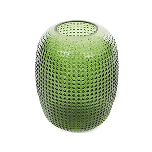 Medium klevering small dotted green vase