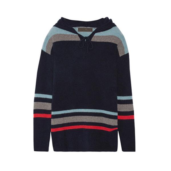 e6a0e85357a The Elder Statesman - Heavy Hockey Hooded Striped Cashmere Sweater ...