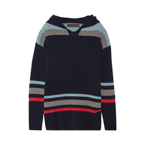 Medium the elder s heavy hockey hooded striped cashmere sweater
