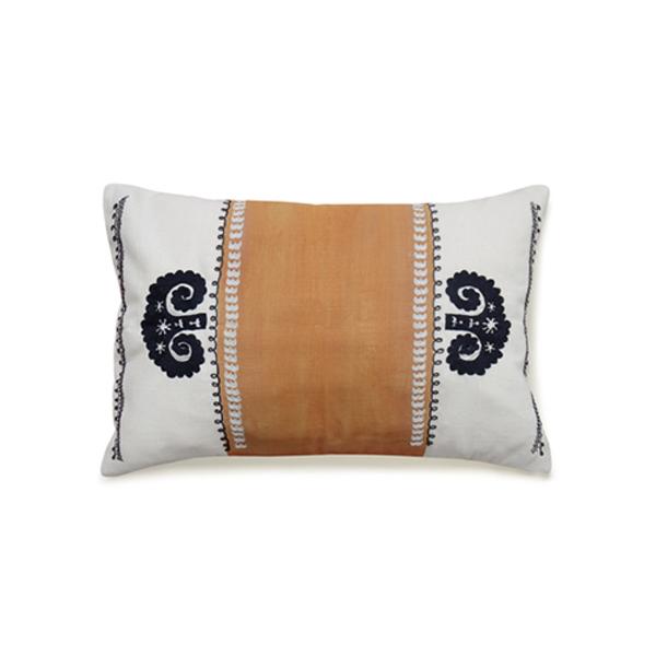 4723a11c2 Emporio Sirenuse - Rectangular silk pillow yellow - Semaine
