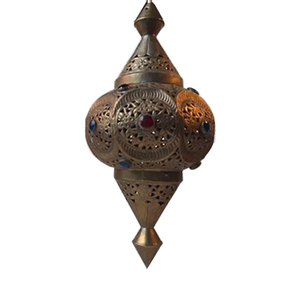Medium pamnomid century moroccan shehrazad brass pendant light