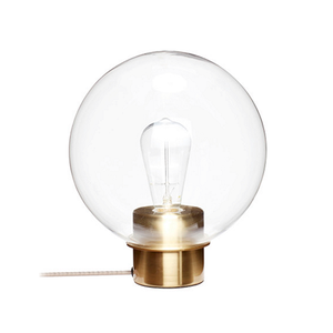 Medium trouva hubsch table lamp with brass base