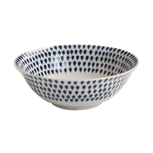 Medium trouva nkuku indigo drop cereal bowl