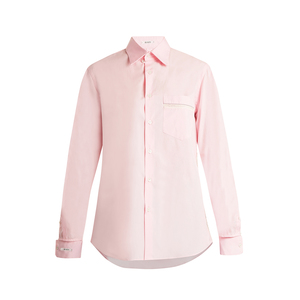 Medium blouse george lace trimmed poplin shirt