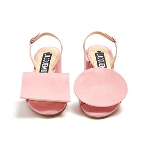 Medium jacquemus sculptured heel suede sandals