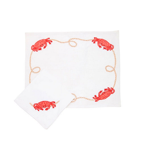Medium loretta caponi crab set of 2 placemats   2 napkins