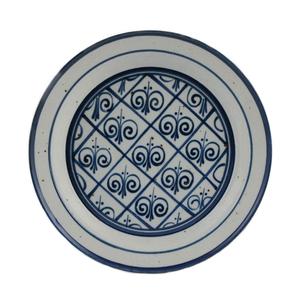 Medium ceraudo large blue   white dish