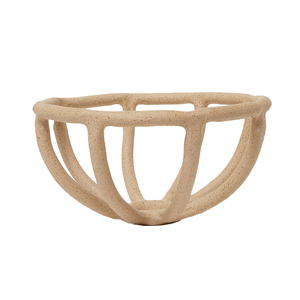 Medium need supply sin prong fruit bowl in stone