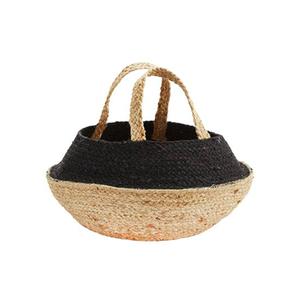 Medium trouva madam stoltz two tone hemp basket bag